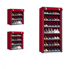 Load image into Gallery viewer, Non-woven Fabric Storage Shoe Rack Hallway Cabinet Organizer Holder 4/5/6 Layers Assemble Shoes Shelf DIY Home Furniture