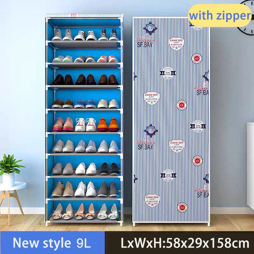 2020 Hot Multilayer Shoe Cabinet Dustproof Shoes Storage Easy to Install Space Saving Stand Holder Home Dorm Furniture Shoe Rack