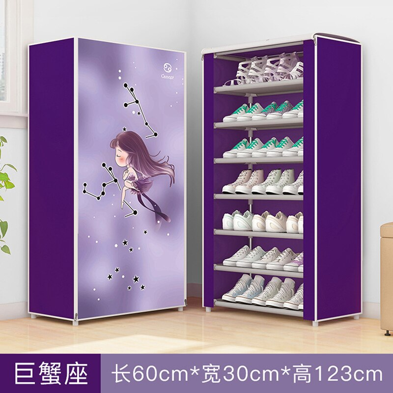 12 constellations Double Rows High Quality Shoes Cabinet Shoes Rack Large Capacity Shoes Storage Organizer Shelves DIY Furniture