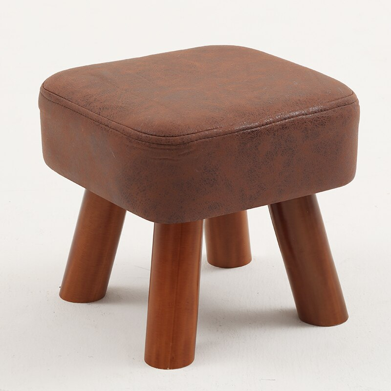 Small family stool wooden square fashion creative adult living room children's sofa tea table stool pouf ottoman kids furniture