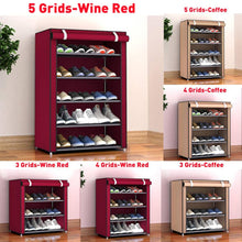 Load image into Gallery viewer, Solid Color Double Rows High Quality Shoes Cabinet Shoes Rack Large Capacity Shoes Storage Organizer Shelves DIY Home Furniture