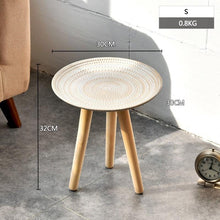 Load image into Gallery viewer, Creative Round Nordic Wood Coffee Table Bed Sofa Side Table Tea Fruit Snack Service Plate Tray Small Desk Living Room Furniture