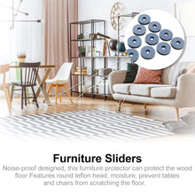Load image into Gallery viewer, 20pcs Furniture Glides Teflon Durable Furniture Glides Sliding Block Furniture Glide Floor Protector for Table Tile Chair Carpet