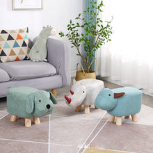 Load image into Gallery viewer, K-STAR Household Furniture Stool Chair Sofa Solid wood Baby sofa stool Living room shoe changing stool  Portable outdoor stool