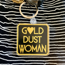 Load image into Gallery viewer, Gold Dust Woman Keychain