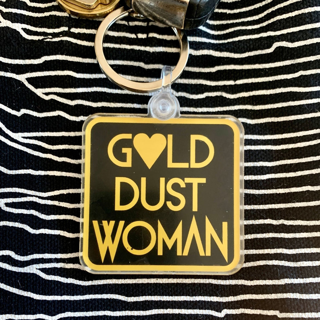Gold Dust Woman Keychain