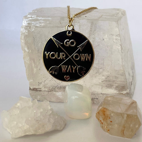 Go Your Own Way Pendant