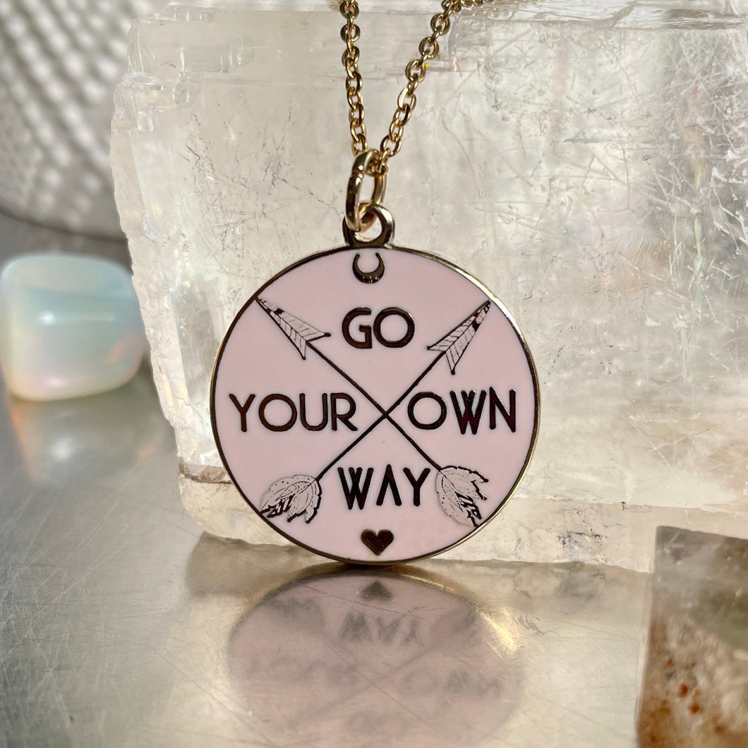 Pink Go Your Own Way Pendant