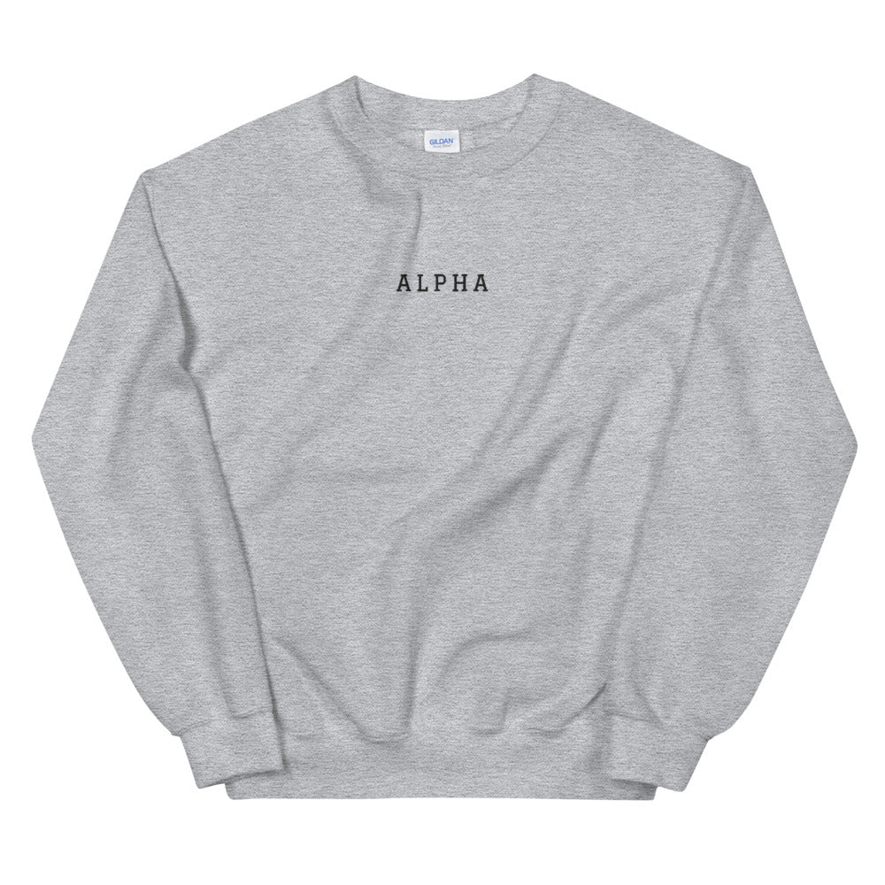 Alpha - Embroidered Unisex Sweatshirt