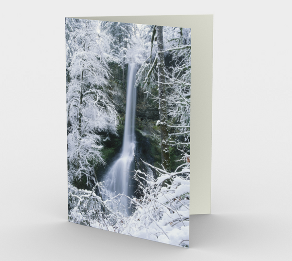 Nature Greeting Card, 5x7 - Winter Falls