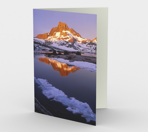 Nature Greeting Card, 5x7 - Banner Peak Sunrise