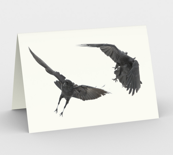 Raven Greeting Card, 5x7 - Socrates and Aristotle