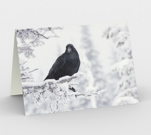 Raven Greeting Card, 5x7 - Time Keeper