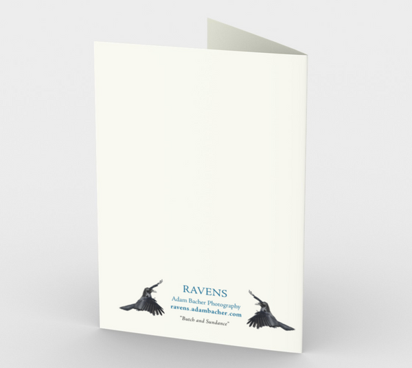 Raven Greeting Card, 5x7 - Butch and Sundance