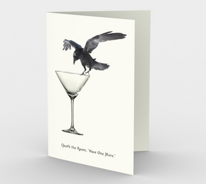 Raven Greeting Card, 5x7 - Quoth the Raven