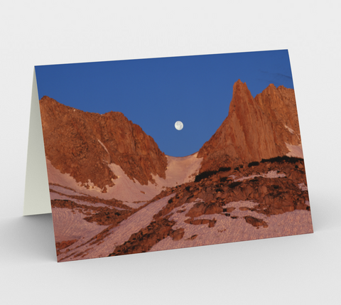 Nature Greeting Card, 5x7 - Moon in Notch