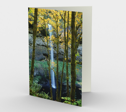 Nature Greeting Card, 5x7 - South Falls Autumn