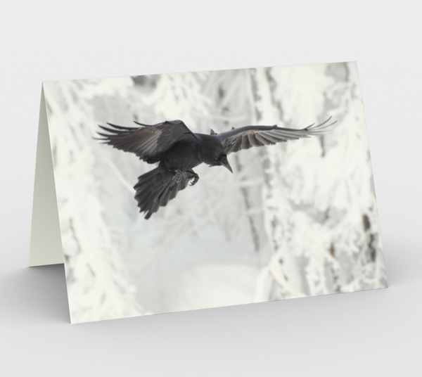 Raven Greeting Card, 5x7 - Inquisitor
