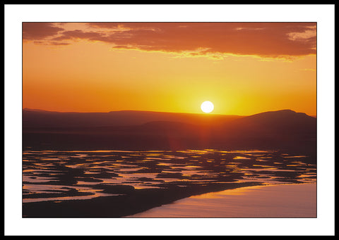Limited ed. Nature Print - Hart Lake Sunset, OR
