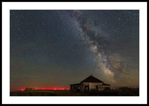 Limited ed. Nature Print - Milky Way and Haunted House, OR