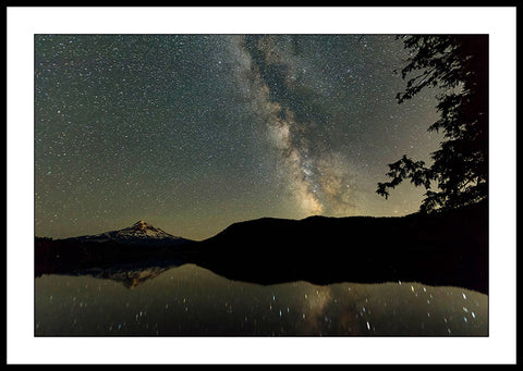 Limited ed. Nature Print - Milky Way Mt Hood and Lost Lake, OR