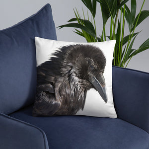 Raven Pillow - 18x18 inches