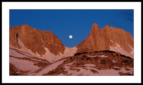 Limited ed. Nature Print - Moon in Notch, Feather Peak, CA