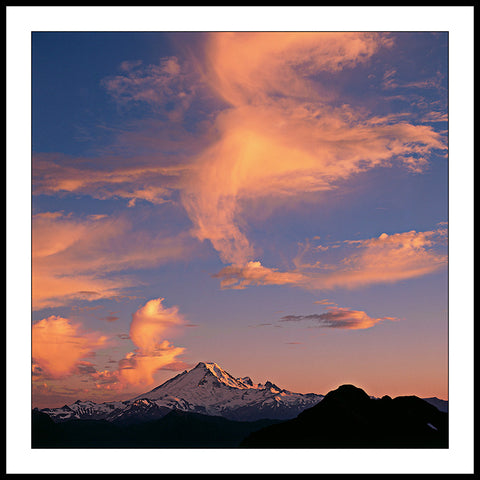 Limited ed. Nature Print - Mt Baker Sunset, WA