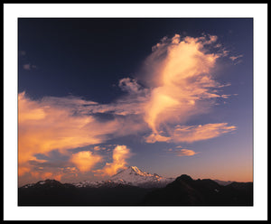 Limited ed. Nature Print - Mt Baker Majestic Sunset, WA
