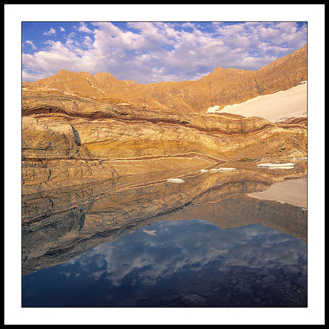 Limited ed. Nature Print - Gunsight Mountain Reflection, MT
