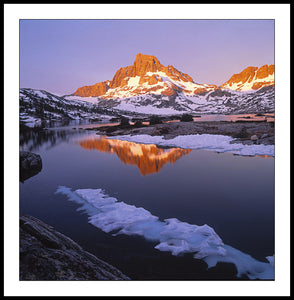 Limited ed. Nature Print  - Banner Peak and Thousand Island Lake, CA
