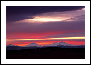 Limited ed. Nature Print - Three Sisters Sunset, OR