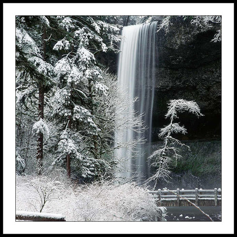 Limited ed. Nature Print - South Falls in Winter, OR