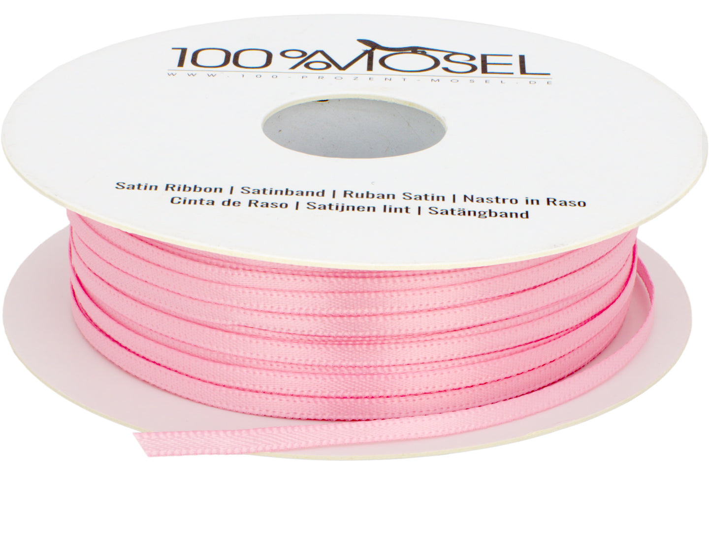 Satinband Rosa, 3 mm