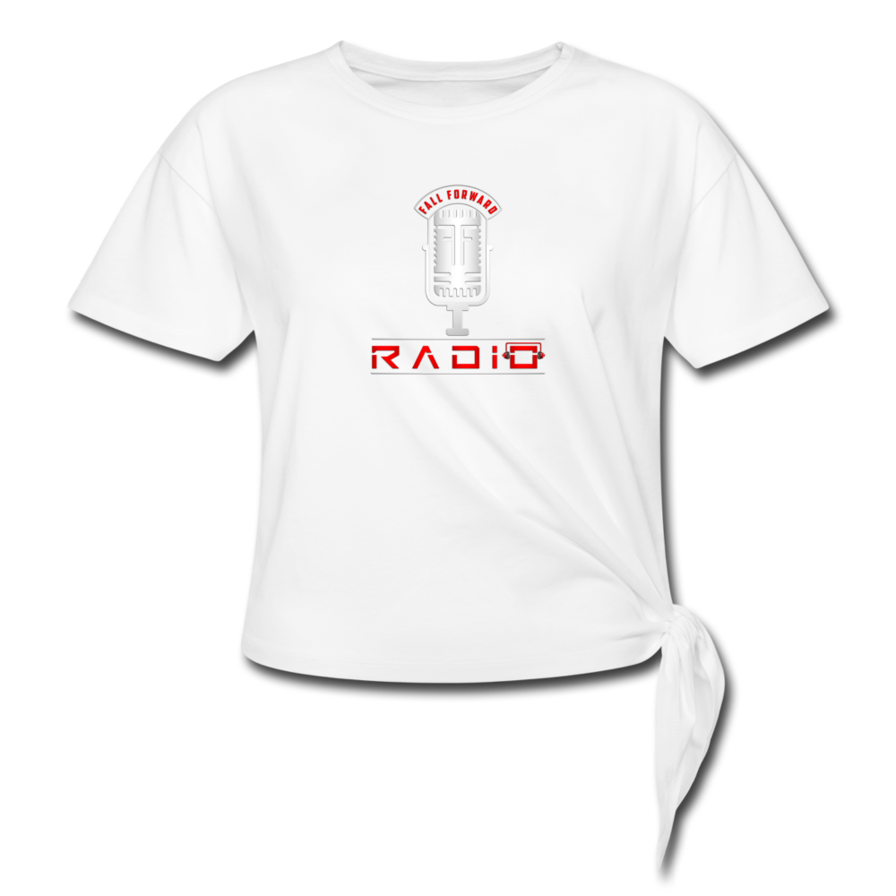 Women's Knotted Logo T - white