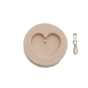 Load image into Gallery viewer, Flat Heart - Silicone Mold + Link
