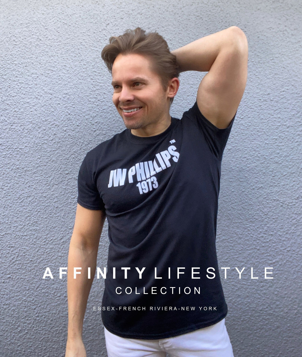 JWP Affinity Collection Black Flock T Shirt