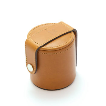 10 Small Cups and Leather Case