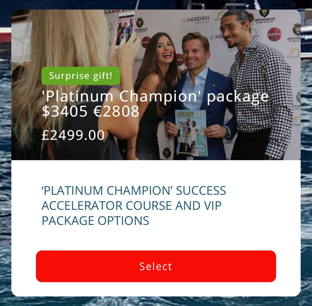 JWP Media 'Platinum Champion' Package
