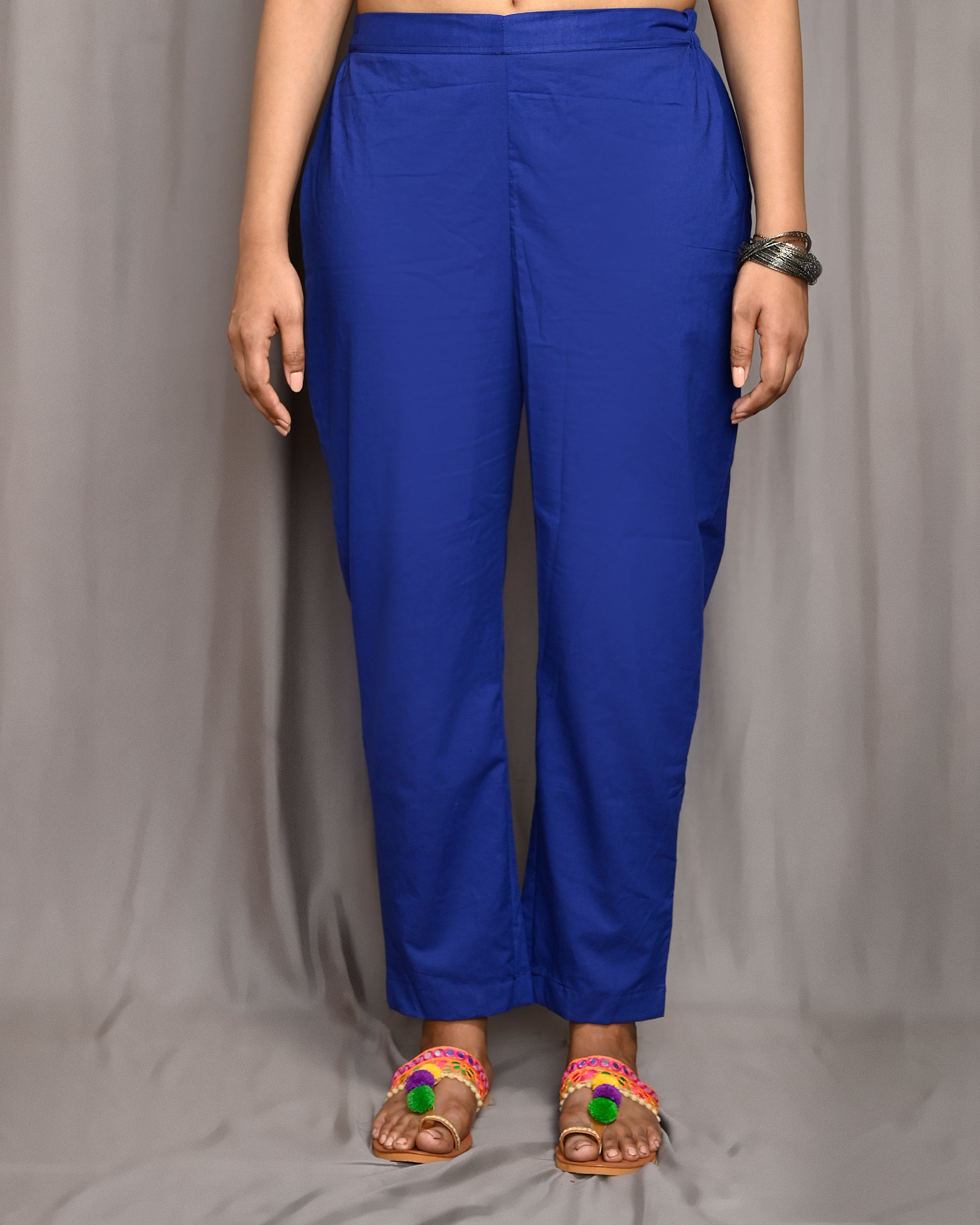 Royal Blue Straight Pant