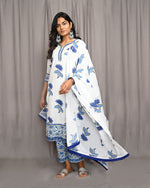 Load image into Gallery viewer, Hand Block Printed Mulmul Dupatta