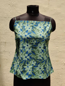 Green Top With Floral Prints
