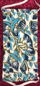 Blue and White Floral - Set of 2