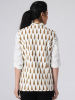 Load image into Gallery viewer, White and Brown Reversible Jacket
