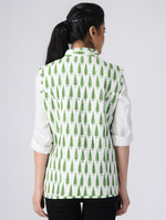 Load image into Gallery viewer, White and GreenReversible Jacket
