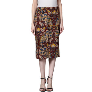 Kalamkari Pencil Skirt