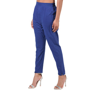 Straight Pant With Pleating Detail