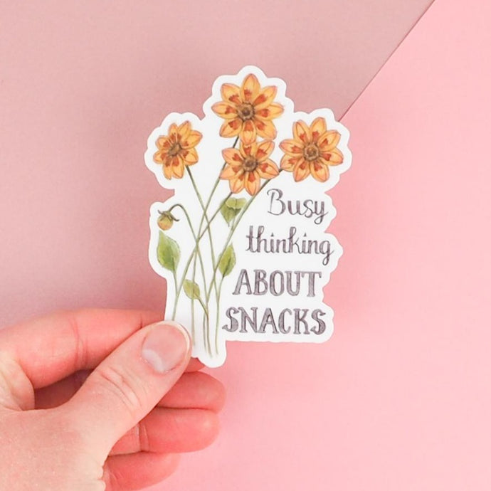 Busy Thinking About Snacks Funny Sticker