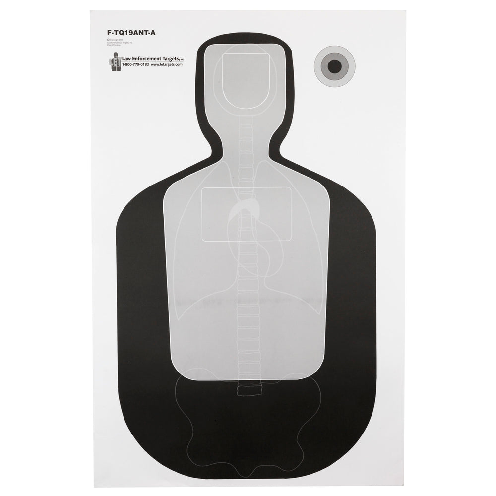 Law Enforcement Targets Vital Anatomy/Tq-19 Target 100 Per Case, F-Tq19Ant-A