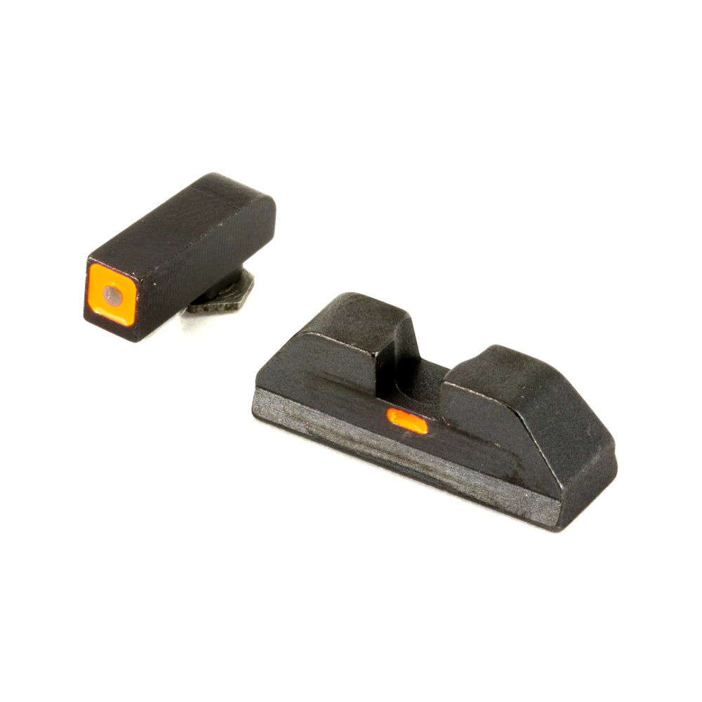 Ameriglo Gl616 Cap Night Sight Fits Glock Tritium Green W/Orange Outline Front Paint Black W/Orange Line Rear Black